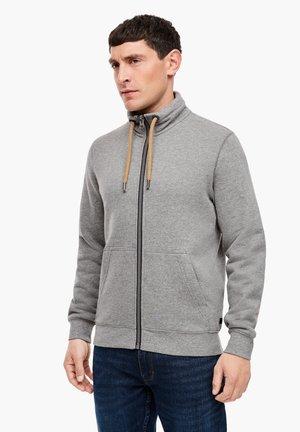MIT DURCHZUGKORDEL - Zip-up hoodie - light grey