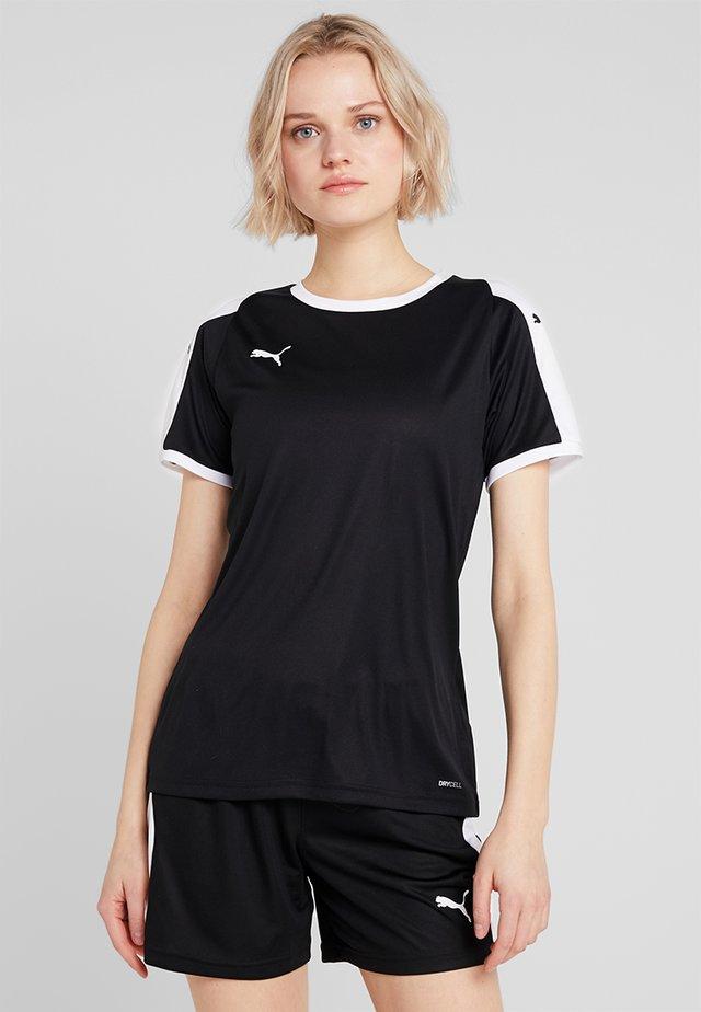 LIGA - T-shirts med print - black/white