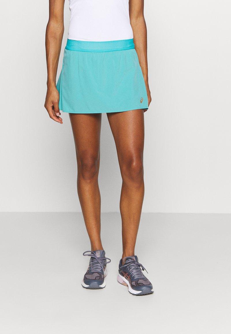 ASICS - TENNIS PLEATS SKORT - Sports skirt - techno cyan