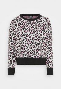 DKNY - LEOPARD CREWNECK  - Jumper - ivory black pink icing - 4