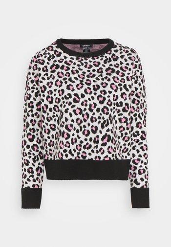 LEOPARD CREWNECK  - Jumper - ivory black pink icing