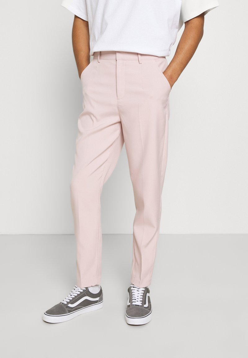 Mennace - SUNDAZE TAPERED FIT SUIT TROUSER - Chinos - pink
