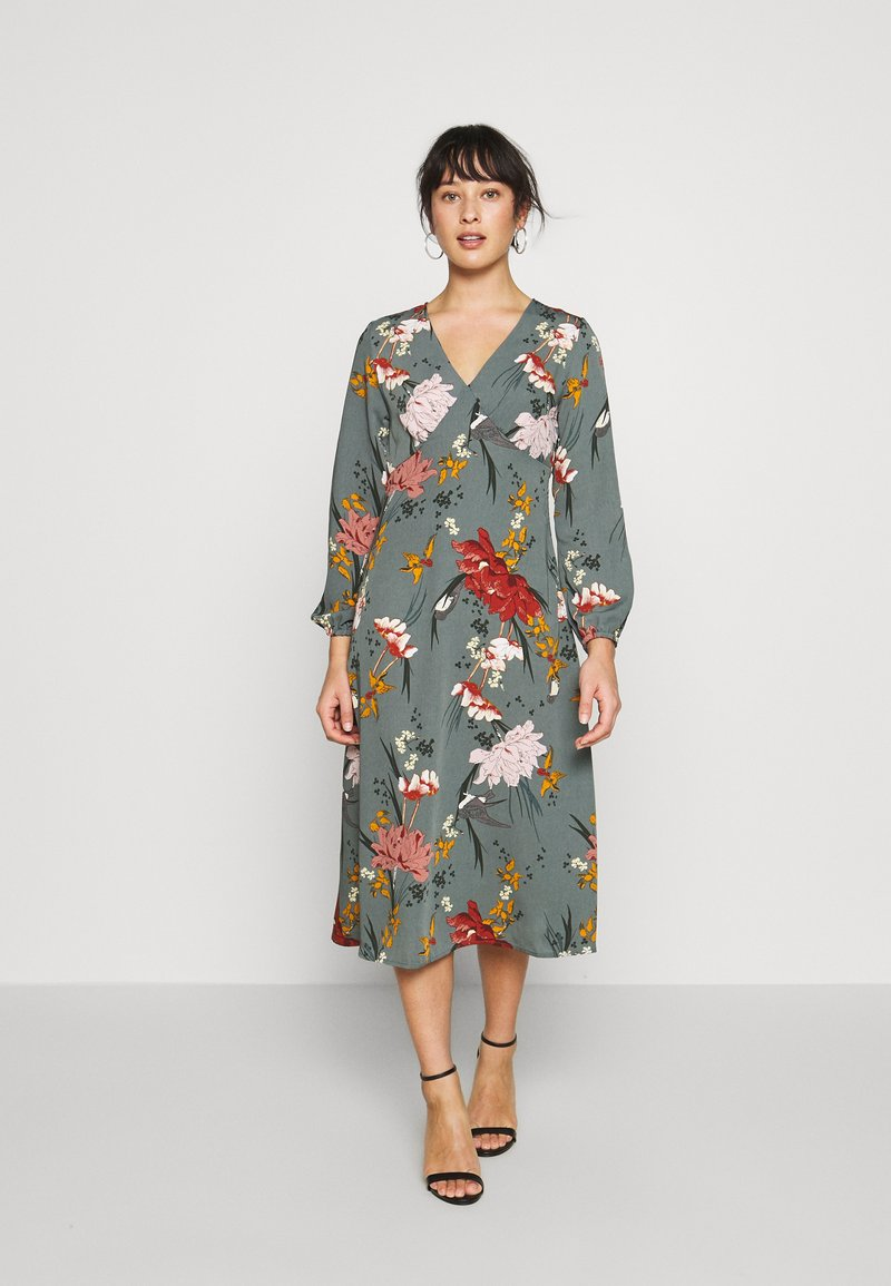 ONLY Petite - ONLELEONORA MIDI DRESS - Denní šaty - balsam green