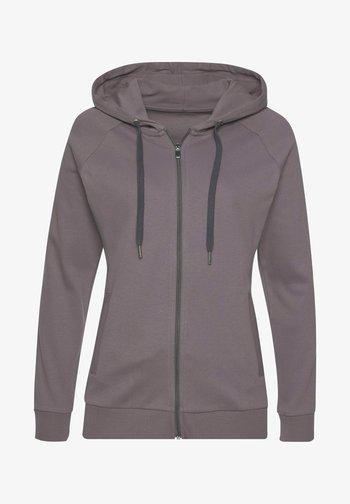 Zip-up sweatshirt - stone