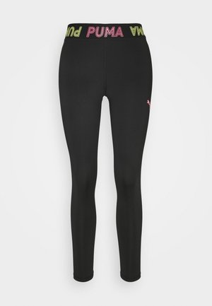 MODERN SPORTS BANDED - Leggings - black/bubblegum