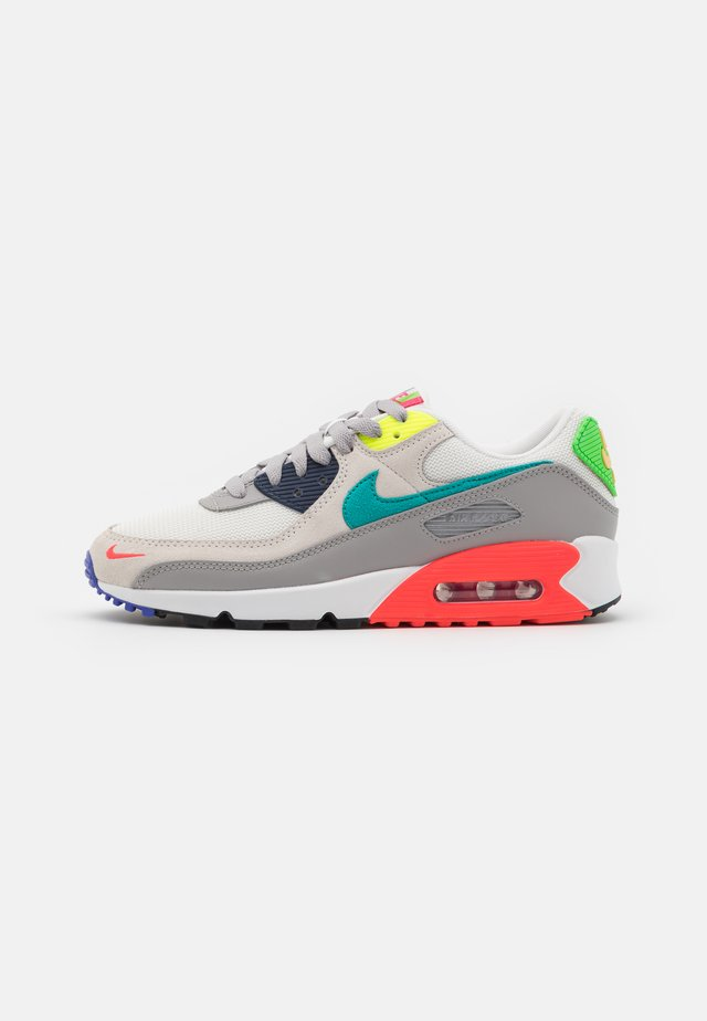 AIR MAX 90 - Sneakers laag - pearl grey/sport turqouise/summit white/black/solar red/lemon