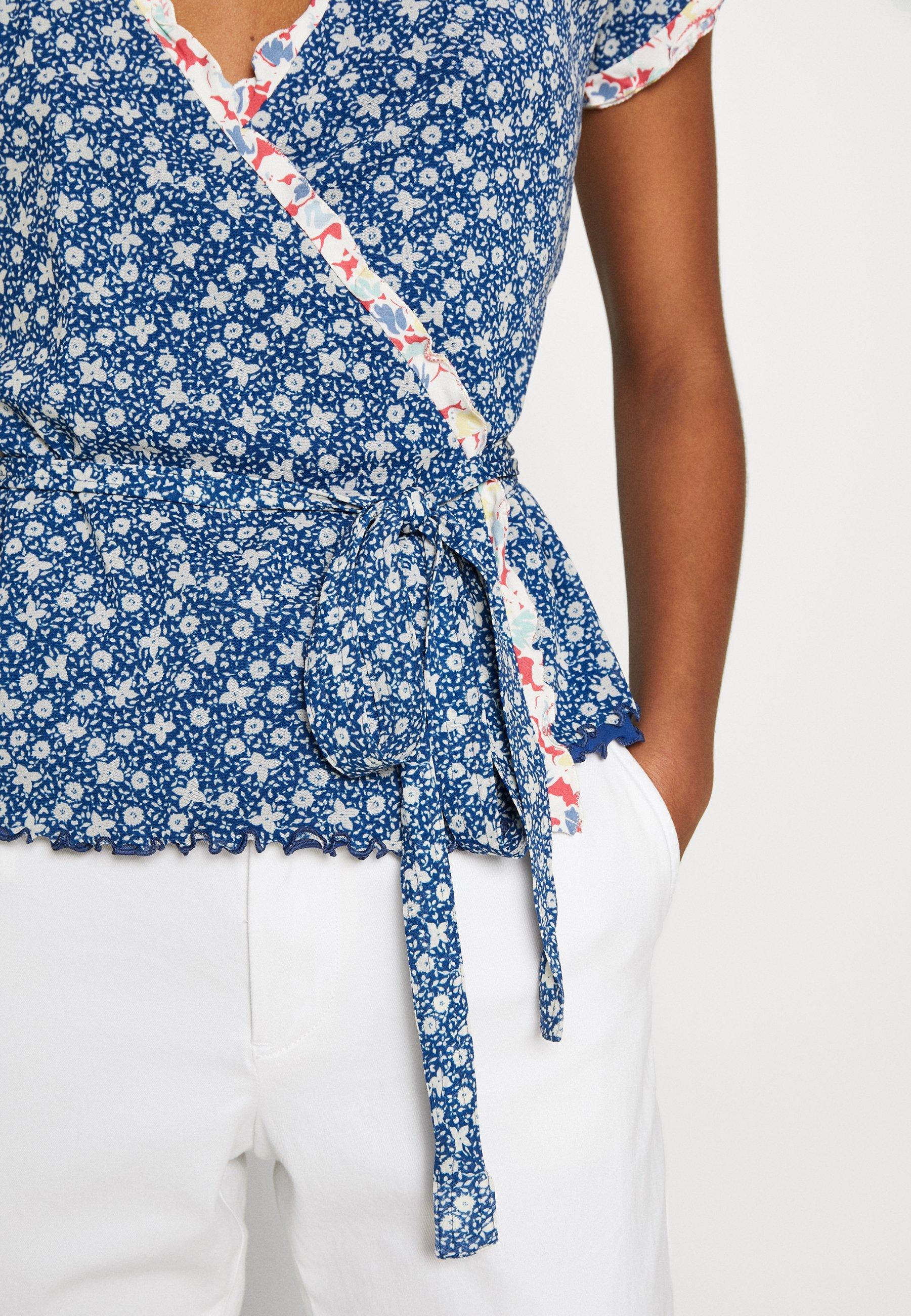 Cost Wholesale Polo Ralph Lauren POWER MESH - Blouse - blue/white | women's clothing 2020 qM1CD