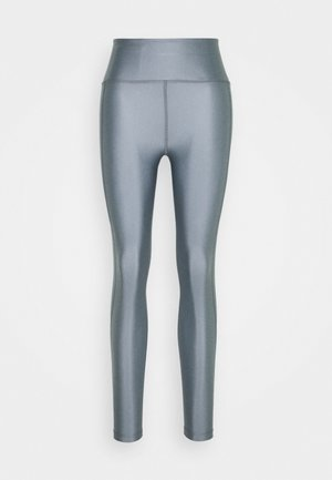 CROPPED GLOSS LEGGING - Medias - silver grey