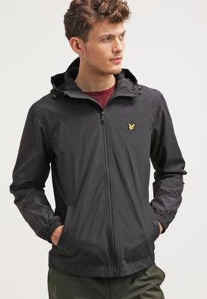 ZIP THROUGH HOODED JACKET - Summer jacket - true black