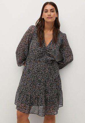 COLOM - Day dress - dunkelgrau meliert