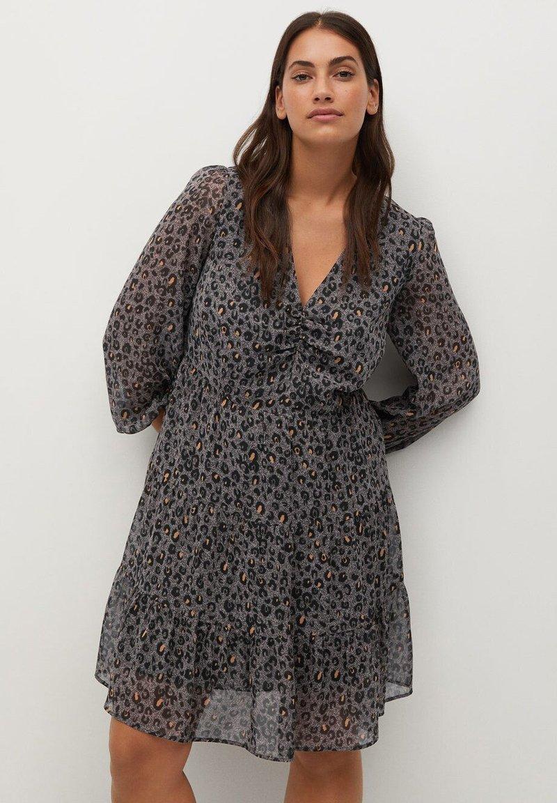 Violeta by Mango - COLOM - Day dress - dunkelgrau meliert