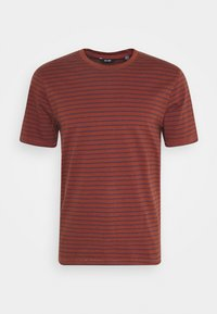 Only & Sons - ONSMICK LIFE STRIPE TEE - Print T-shirt - henna - 5