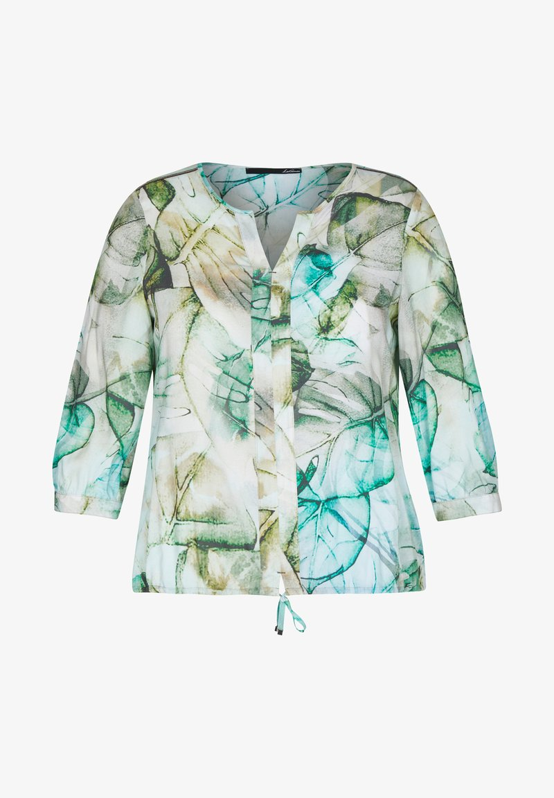 LeComte - MIT MUSTER UND TUNNELZUG - Blouse - olive, white, turquoise