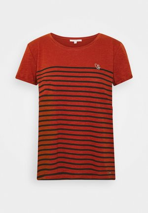 Print T-shirt - rust orange