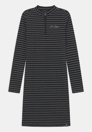 MONDA STRIPE - Jersey dress - black