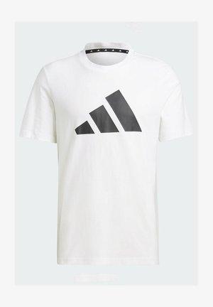 BADGE OF SPORT - T-shirt imprimé - white