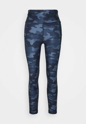 SIDE POCKET ANKLE PANT - Legging - blue