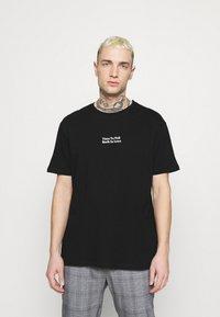 YOURTURN - ROSE AND BARBED WIRE UNISEX - T-shirt imprimé - black - 0