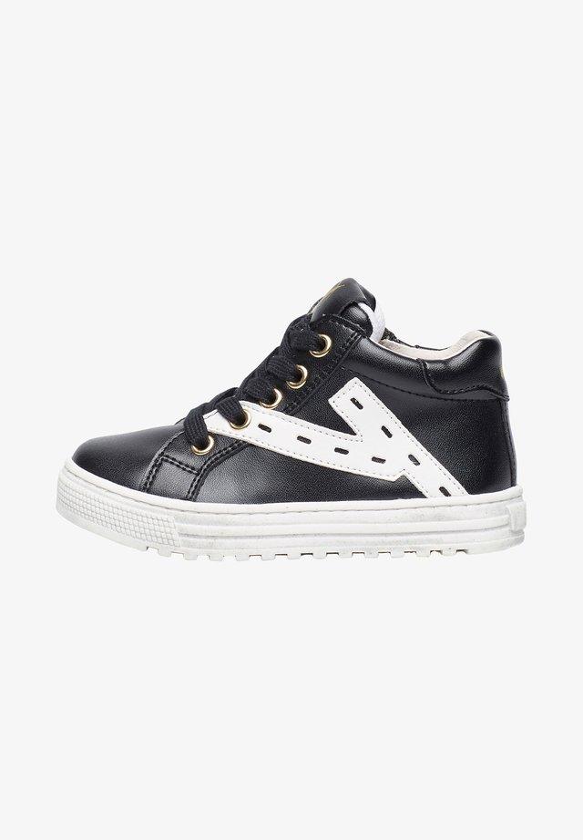 SNIP HIGH MIT KONTRASTIERENDEM PA - Sneakers basse - schwarz