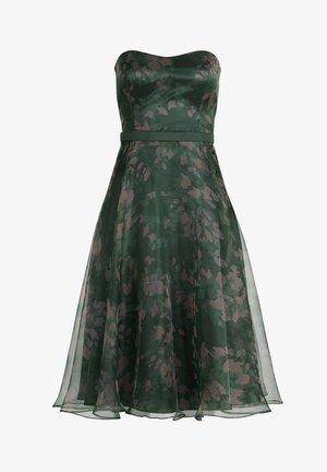 Cocktail dress / Party dress - dark green /rosé