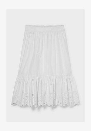Pleated skirt - white