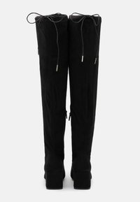 New Look - CANBERRA STRETCH BLOCK HEEL - Cuissardes - black - 3
