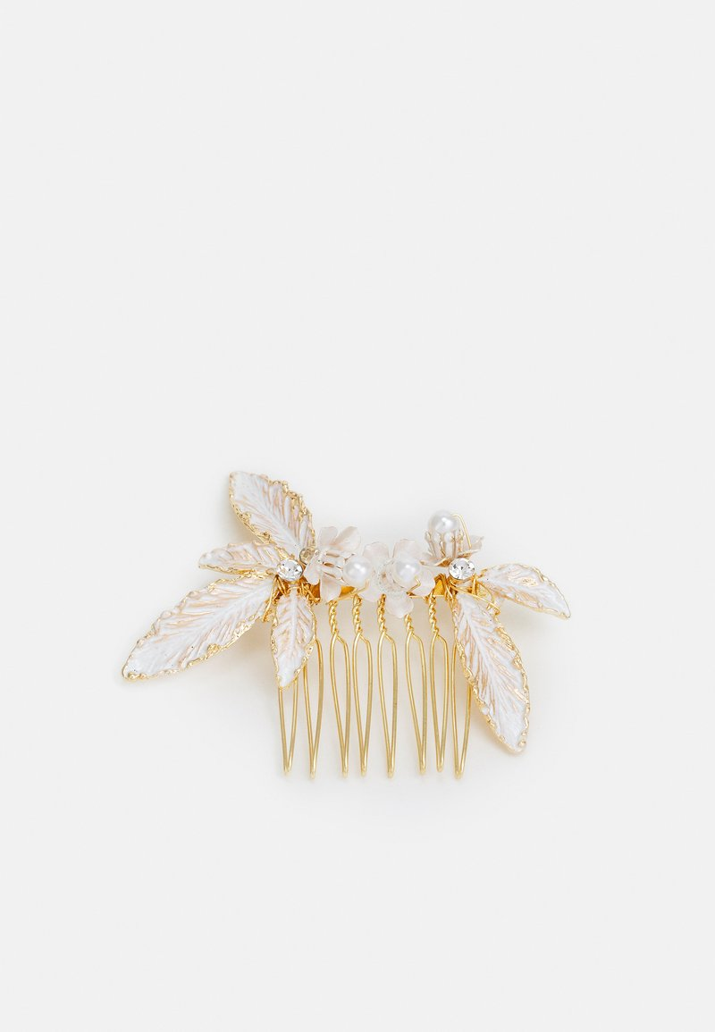 ONLY - ONLJENNA FLOWER HAIRCLIP - Hair styling accessory - gold-coloured/white