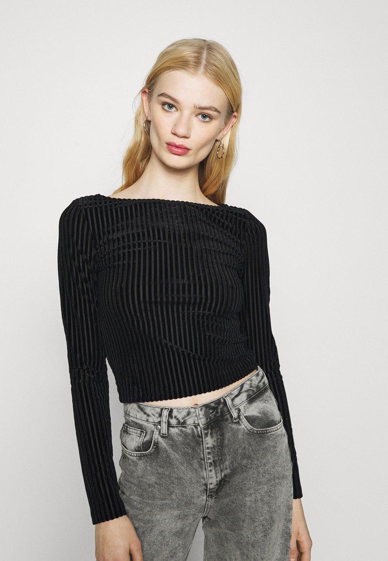 Monki - ULLE - Long sleeved top - black