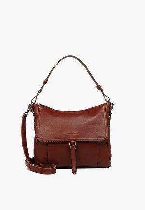 KICKI - Handbag - dark cognac
