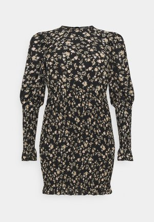 PLUS SHIRRED PUFF DRESS - Day dress - black