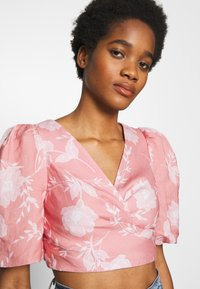 Forever New - PUFF SLEEVE WRAP - Blouse - pink - 3
