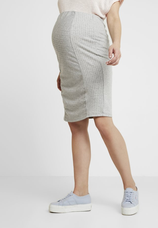SKIRT DORIS - Gonna a tubino - grey melange