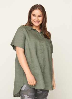 Button-down blouse - army