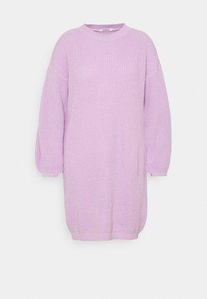 EXCLUSIVE DRESS  - Svetríkové šaty - lilac