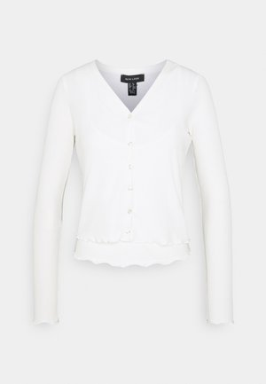 TWIN CARDI SET - Topper - off white