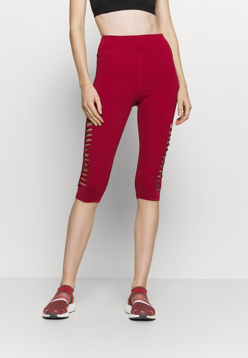 Even&Odd active - 3/4 sports trousers - dark red