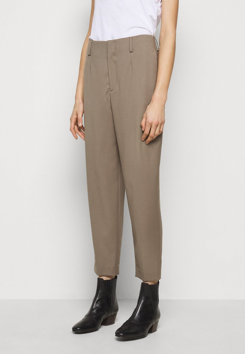Filippa K - KARLIE TROUSER - Trousers - grey taupe