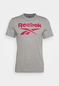 Reebok - STACKED TEE - T-shirts print - medium grey heather - 3