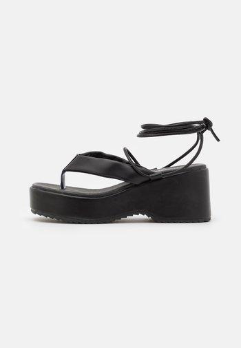 JENIFER - Platform sandals - black