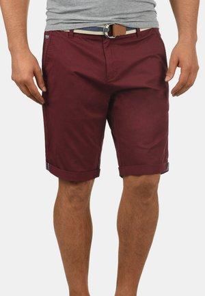 Monty - Shorts - wine red