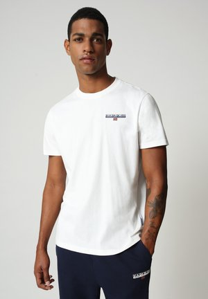 T-shirt med print - bright white