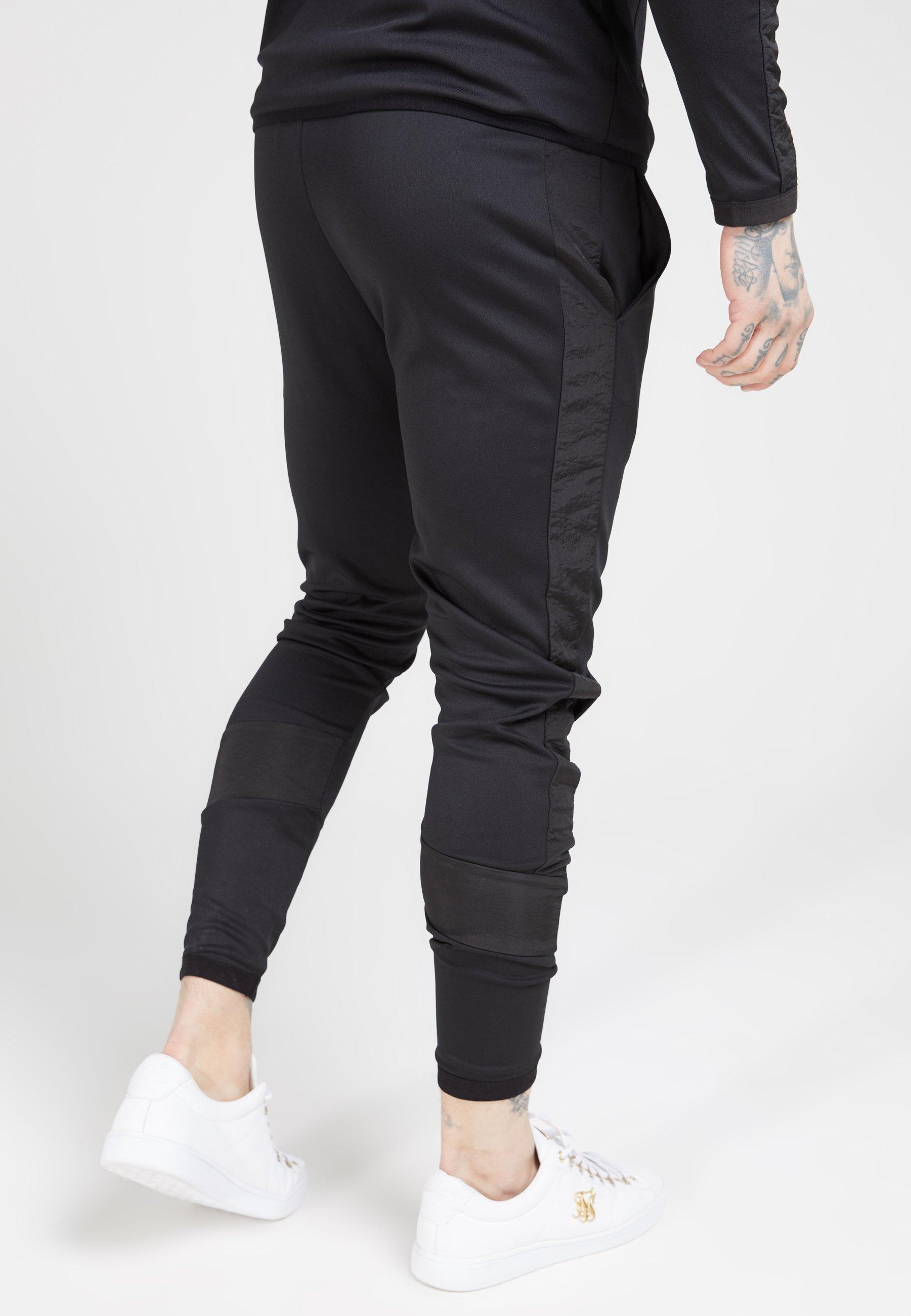 SIKSILK CREASED PANTS - Pantalon de survêtement - black