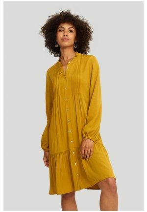 Sukienka z dżerseju - mustard