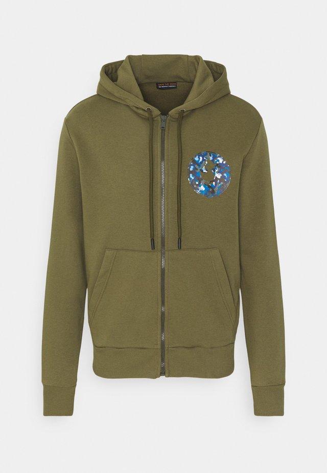 Zip-up hoodie - base verde militare