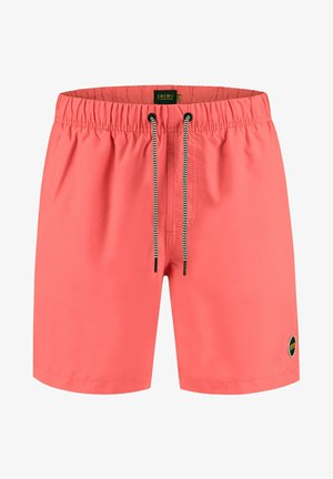 MIKE - Swimming shorts - fluo red