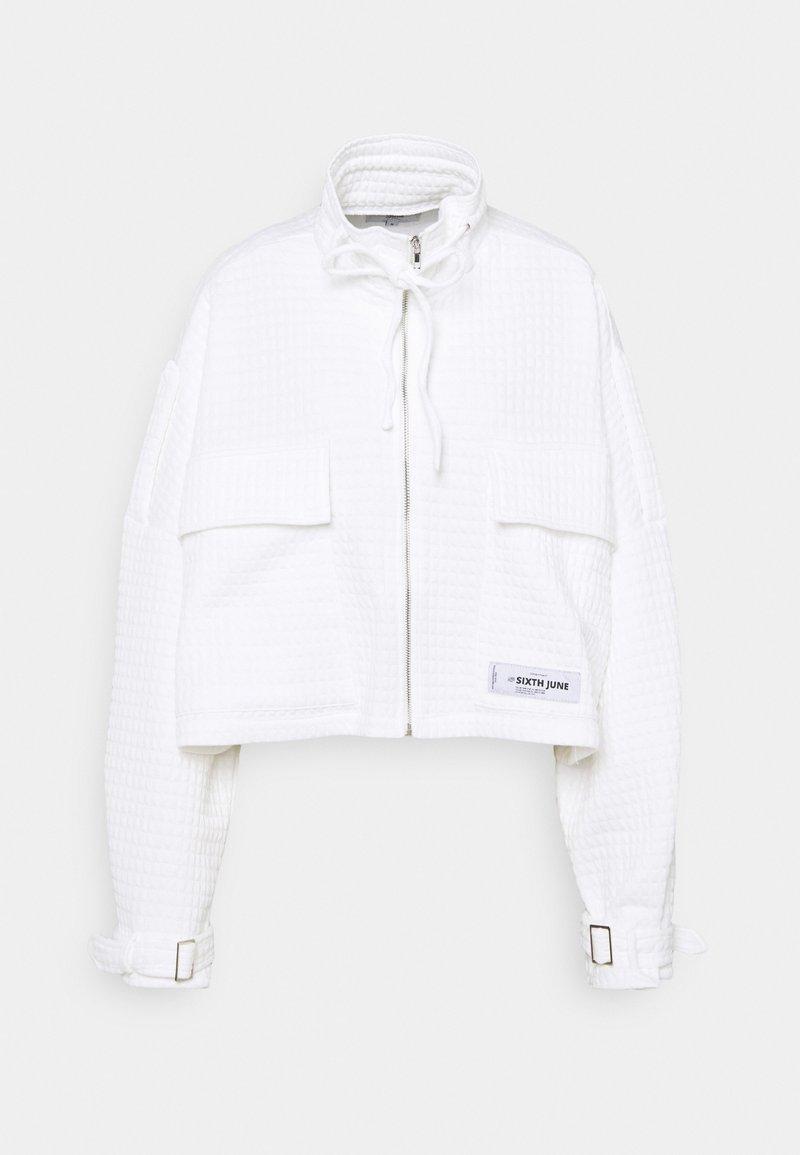 Sixth June - WAFFLE JACKET - Summer jacket - white