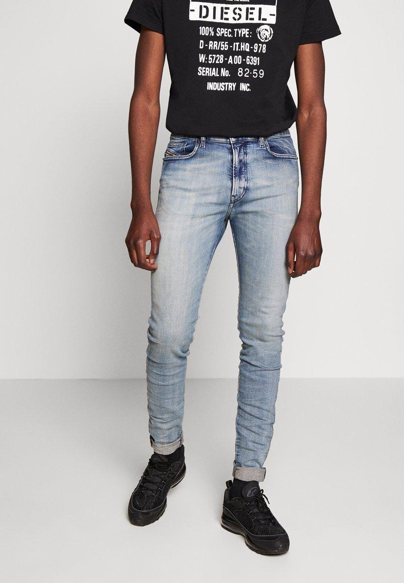 Diesel - D-AMNY-X - Slim fit jeans - blue denim