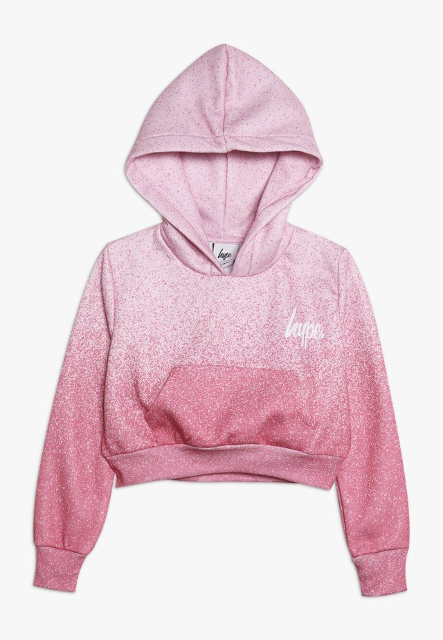 KIDS CROP HOODIE SPECKLE FADE - Jersey con capucha - pink