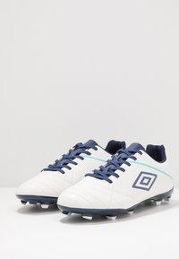 Umbro - MEDUSÆ III LEAGUE FG - Scarpe da calcetto con tacchetti - white/medieval blue/blue radiance - 2