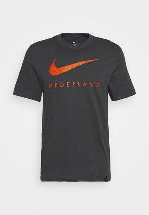 NIEDERLANDE TEE GROUND - National team wear - anthracite